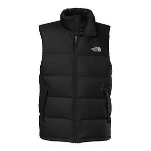 North Face black puffy vest